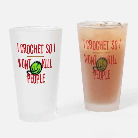 Funny Stitches Drinking Glass