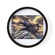 Black Dragons Wall Clock