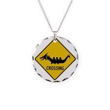 Cute Dragon boat paddle Necklace