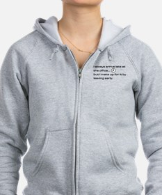 'Late At The Office' Zip Hoodie