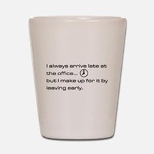 'Late At The Office' Shot Glass