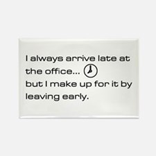 'Late At The Office' Rectangle Magnet (10 pack)