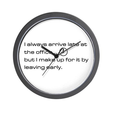 'Late At The Office' Wall Clock