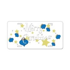 Retro Christmas OO Aluminum License Plate