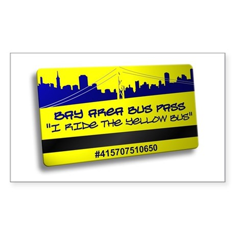 Bay Bus Pass Rectangle Sticker