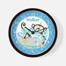 Monkey in Tub Wall Clock - Walker