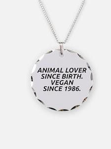 Vegan since 1986 Necklace