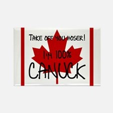100 percent canuck Rectangle Magnet