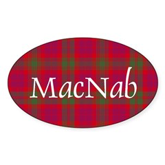 Tartan - MacNab Sticker (Oval 10 pk)