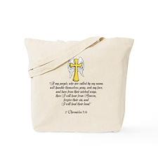 2 Chr 7:14 Cross Wing Tote Bag
