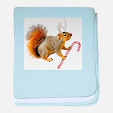 Reindeer Squirrel baby blanket