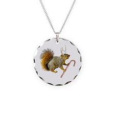 Reindeer Squirrel Necklace Circle Charm
