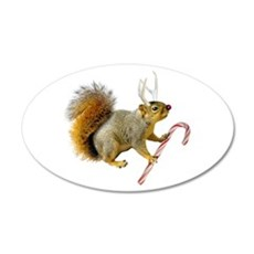 Reindeer Squirrel Wall Decal