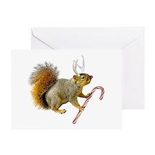 Reindeer Squirrel Greeting Card