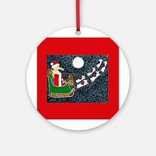 Santa Dachshund Ornament (Round)