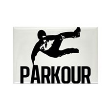 Parkour Leap Rectangle Magnet