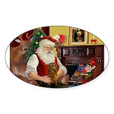 Santa's Dachshund (b) Decal