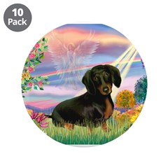 "Cloud Angel /Dachshund(b&t) 3.5"" Button ("