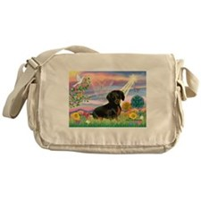 Cloud Angel /Dachshund(b&t) Messenger Bag