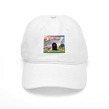 Cloud Angel / Dachshund Baseball Cap