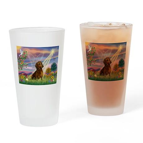 Cloud Angel & Dachshund Drinking Glass