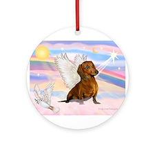 Dachshund / Angel (brn) Ornament (Round)