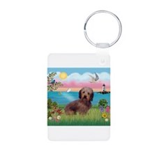 Lighthouse / Dachshund Keychains