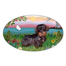 Lighthouse / Dachshund Decal