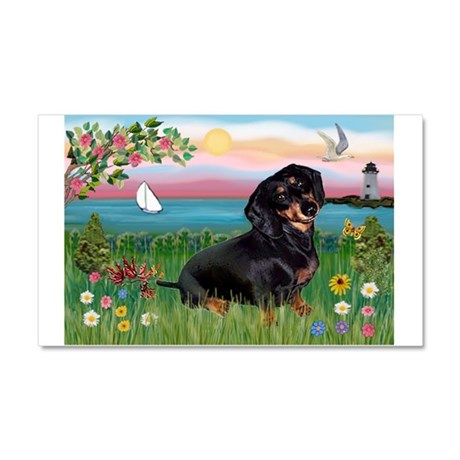 Lighthouse Doxie Car Magnet 20 x 12