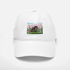 Blossoms / Dachshund Baseball Baseball Cap
