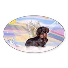Wire Haired Dachshund Angel Decal