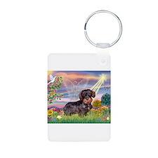 Cloud Angel & Dachshund (WH) Keychains