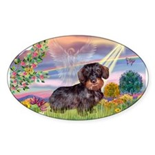 Cloud Angel & Dachshund (WH) Decal