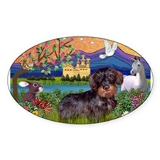 Fantasy Land / Dachshund (WH) Decal