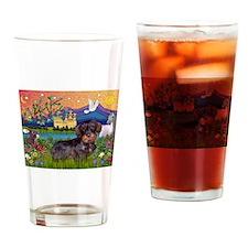 Fantasy Land / Dachshund (WH) Drinking Glass