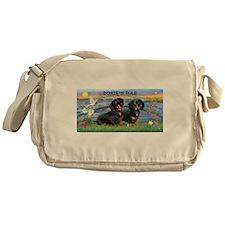 Sunrise Lilies / Doxie's Rule Messenger Bag