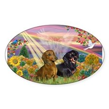 Autumn Angel / Two Dachshunds Decal