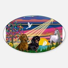 Magical Night / Two Dachshund Decal
