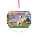 Dalmatian Round Ornaments