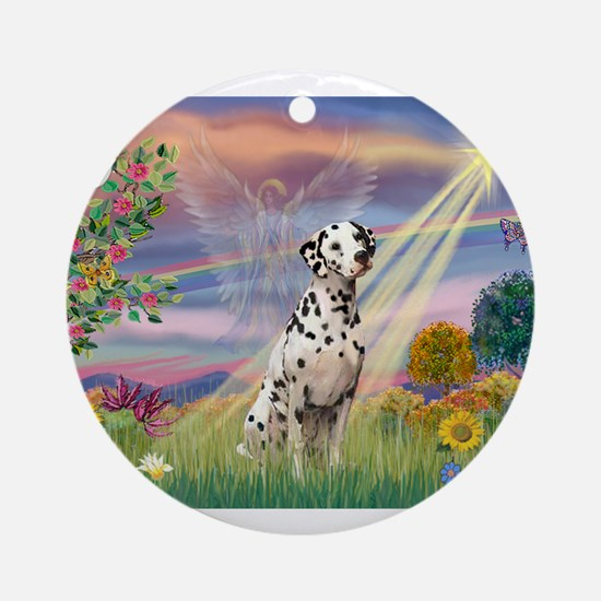 Mona Lisa (new) & Dalmatian Ornament (Round)