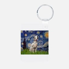 Starry Night & Dalmatian Keychains
