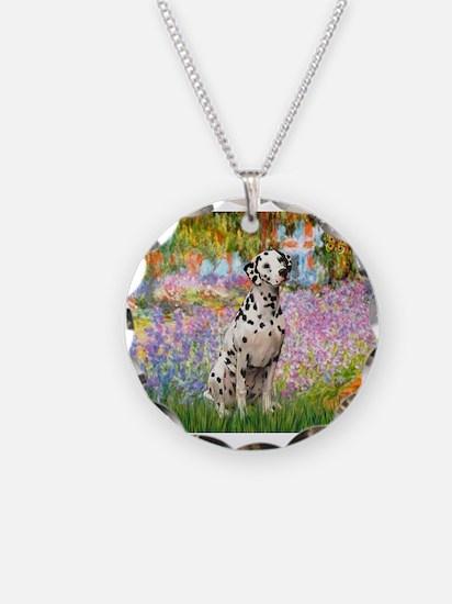 Cute Dalmatian Necklace Circle Charm