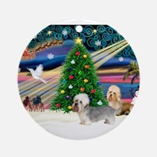 Xmas Magic & Dandie pair Ornament (Round)