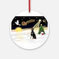 Night Flight/Dobie #1 Ornament (Round)
