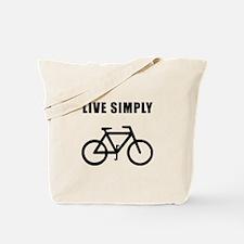 Live Simply Bike Tote Bag