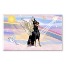 Dobie Angel in Clouds Decal