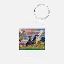 Cloud Angel & Dobie Pair Keychains