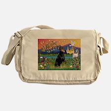 Doberman Fantasyland Messenger Bag