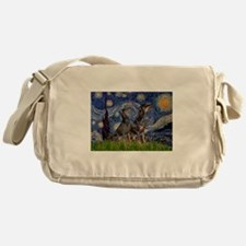 Starry Night & Dobie Pair Messenger Bag