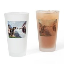 Creation & Dobie Pair Drinking Glass